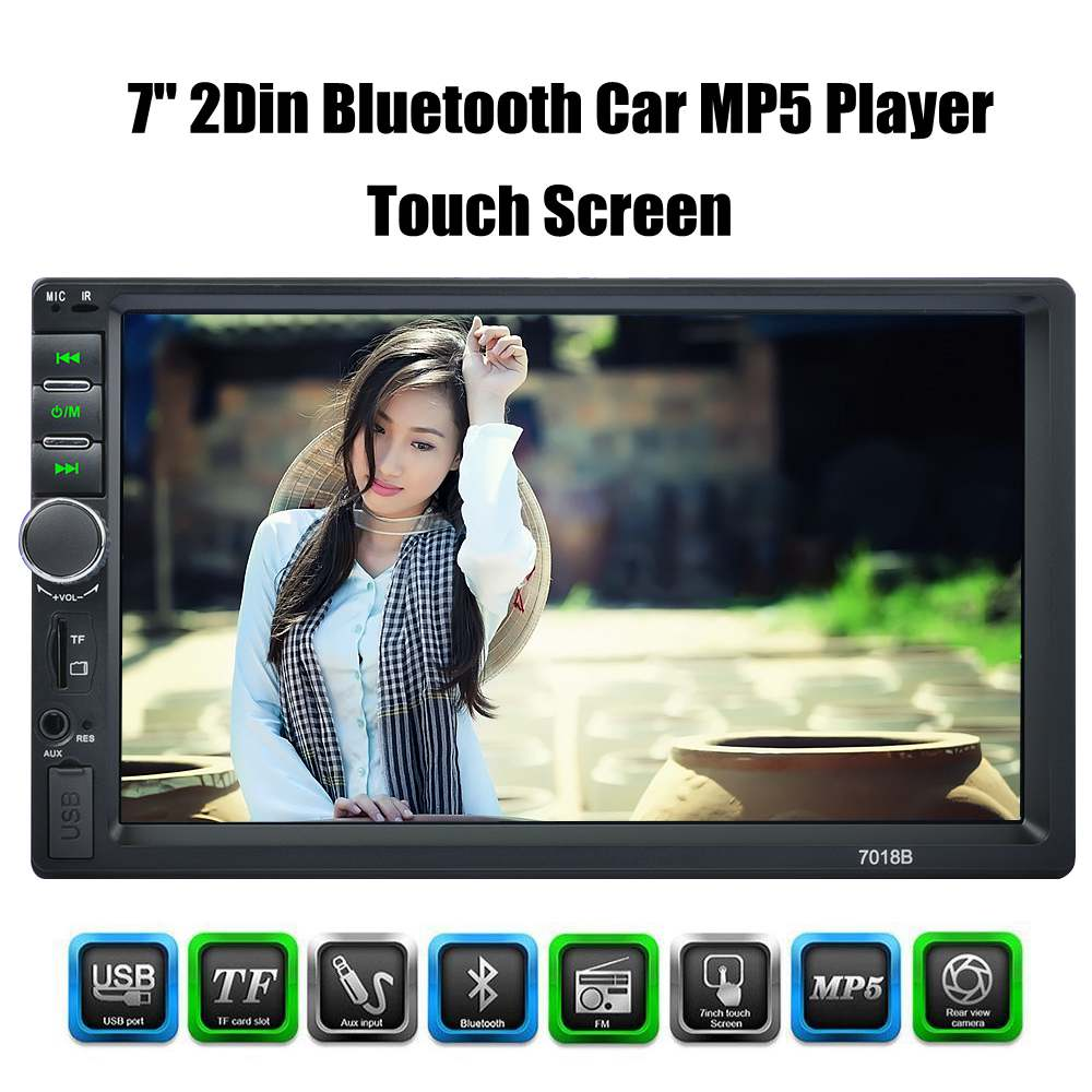 2 Din MP5 Player for Auto 7'' Touch Screen <font><b>2din</b></font> Car Radio Bluetooth Music Video Player Car Audio with USB Support Rear Camera image