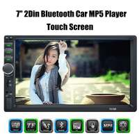 2 Din MP5 Player for Auto 7'' Touch Screen 2din Car Radio Bluetooth Music Video Player Car Audio with USB Support Rear Camera