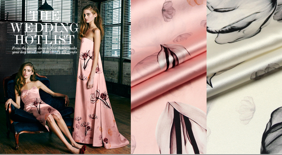 designer 93 silk 7 spandex stretch satin culottes black and pink apparel fabric 1meter T065 2