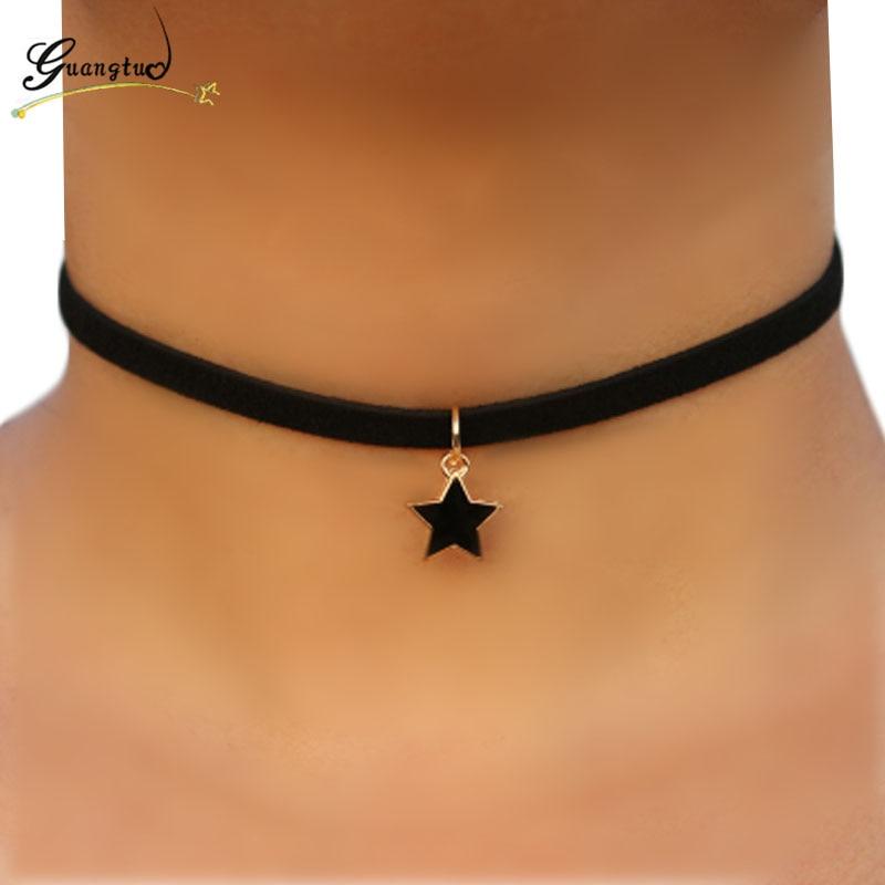 Women/'s Gothic Velvet Yingyang Pearl Choker Collar Pendant Necklace Jewelry Hot