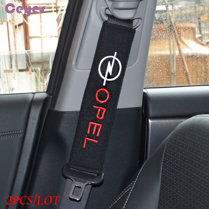Seat Belt Cover Car Styling Pure Cotton Case For Opel Astra H G J Insignia Mokka Zafira Corsa Vectra C D Accessories Car-Styling цена