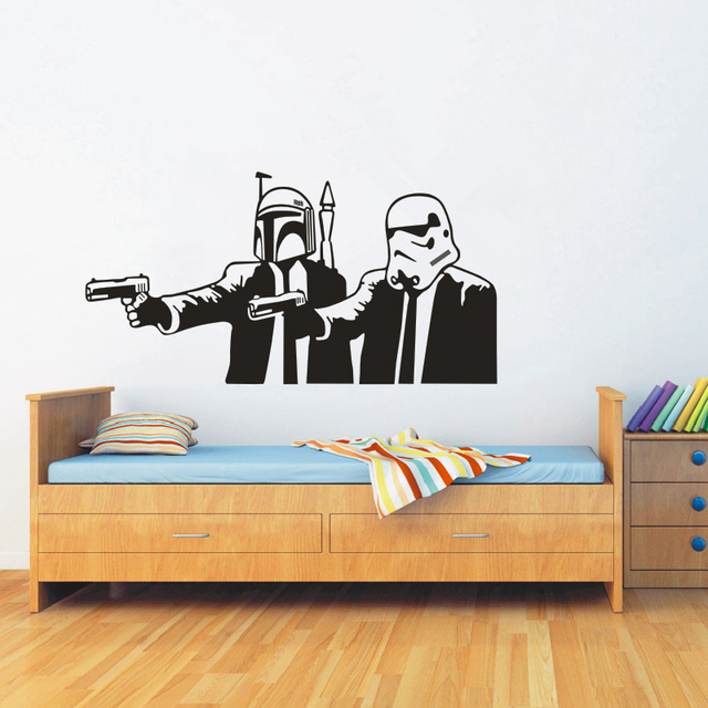 Star Wars Wall Decals Vinyl Sticker   Boyu0027s Bedroom Playroom Hall Poster  Wall Art Mural Decor
