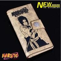 2018 Boys Girls Zipper & Hasp Rectangular Long Purse Fresh And Cartoon Naruto Sasuke Detective Conan Wallet Purse Card Bag