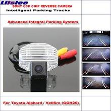 Liislee HD SONY kamera cofania samochodu dla Toyota Alphard Vellfire 2008 ~ 2015 inteligentne parkowanie utworów rewers NTSC RCA AUX tanie tanio CN (pochodzenie) Plastikowe + Szkło Drutu ACCESSORIES Pojazd backup kamery Z tworzywa sztucznego