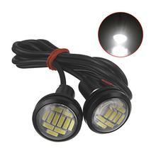 2 шт 12V орлиный глаз свет 12SMD 23 мм дневные ходовые огни дневного Waterpproof-фонарь для мотоцикла, прикрутите лампу резервного копирования сигнальная лампа