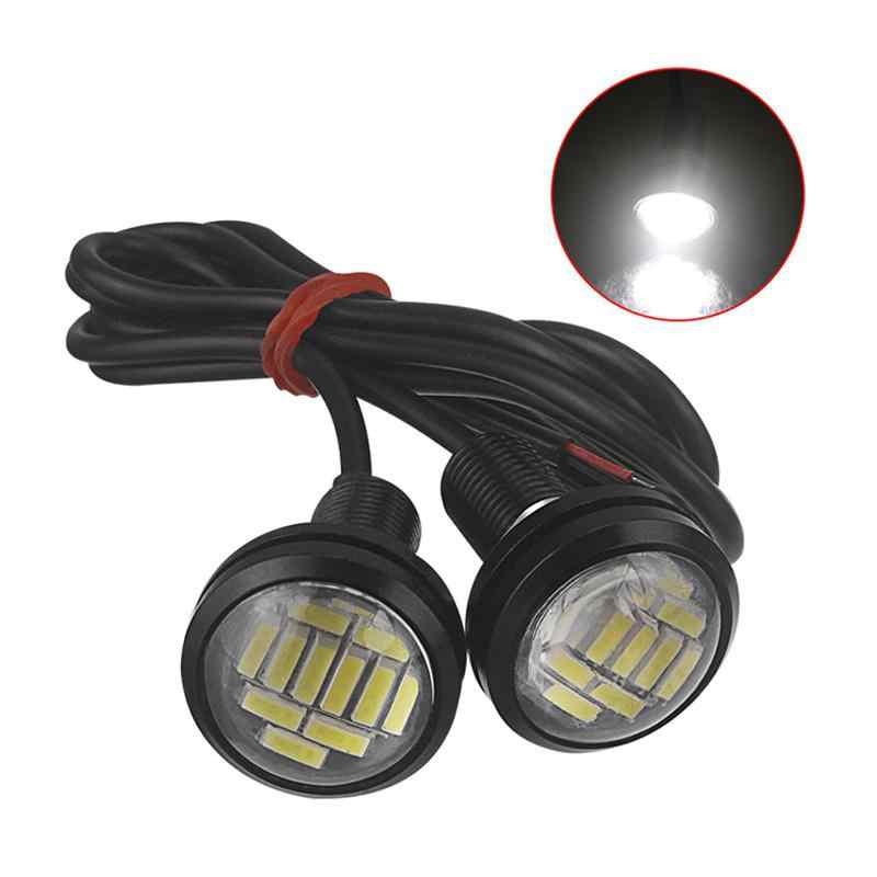 2 Pcs 12V Eagle Eye Lampu LED 12SMD 23 Mm Mobil DRL Siang Hari Tahan Air Lampu Motor Sekrup Lampu backup Sinyal Light Bulb