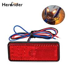 24LED прямоугольник мотоцикл Отражатель тормоза кабеля сигнала поворота лампы автомобилей ATV светодиод Отражатели грузовик бортовой сигнальные лампы