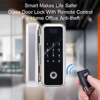 APP Fingerprint Glass Door Lock Electronic Door Lock Smart Door Locks Fingerprint Password Card For Home Office Anti theft