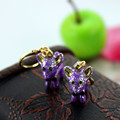 Fashion stud earrings 2014 Fashion a new simple and pure and fresh quietly elegant purple small pendant earrings 403 rats