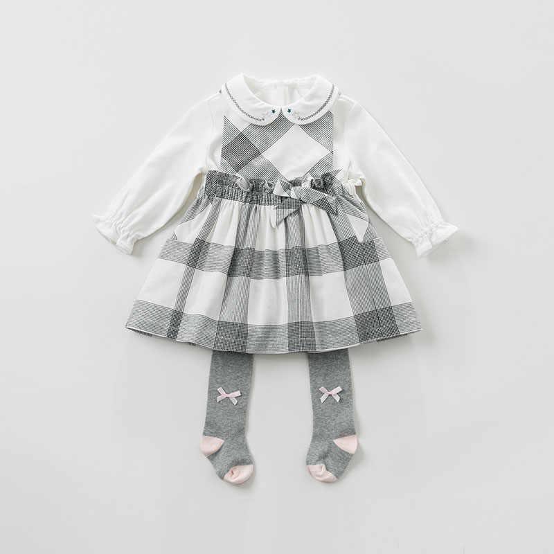 DB10481 dave bella/платье для маленьких девочек, весенние платья без рукавов, детское платье для девочек, детское платье для дня рождения, эксклюзивное клетчатое платье
