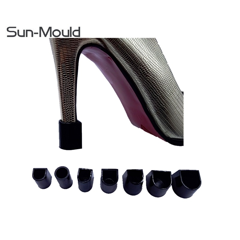 7 Pairs High Heel Protectors Latin Stiletto Dancing Covers Heel Stoppers Antislip Silicone High Heeler Wedding Favor Soft black in Shoe Care Kit from Shoes