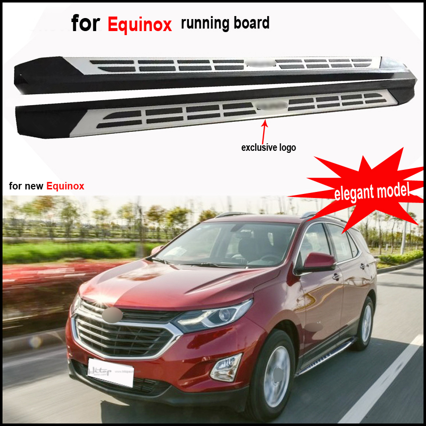 New arrival for Chevrolet Equinox nerf bar side steps bar foot board Pedals 2017 2018 aluminum