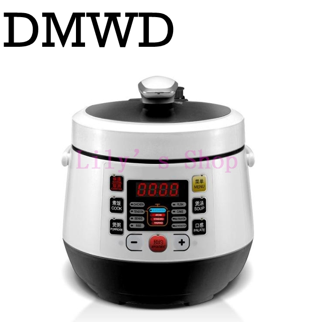 MINI electric pressure cooker intelligent timing pressure cooker reservation rice cooker travel stew pot 2L 110V 220V EU US plug cukyi household 3 0l electric multifunctional cooker microcomputer stew soup timing ceramic porridge pot 500w black