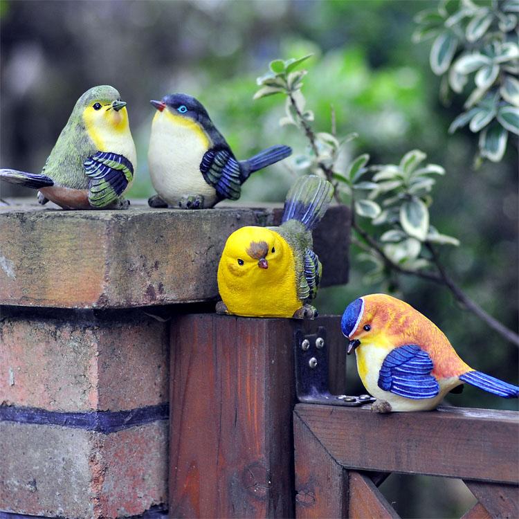 Cute Bird Ornaments Resin Simulation Animal Living Room
