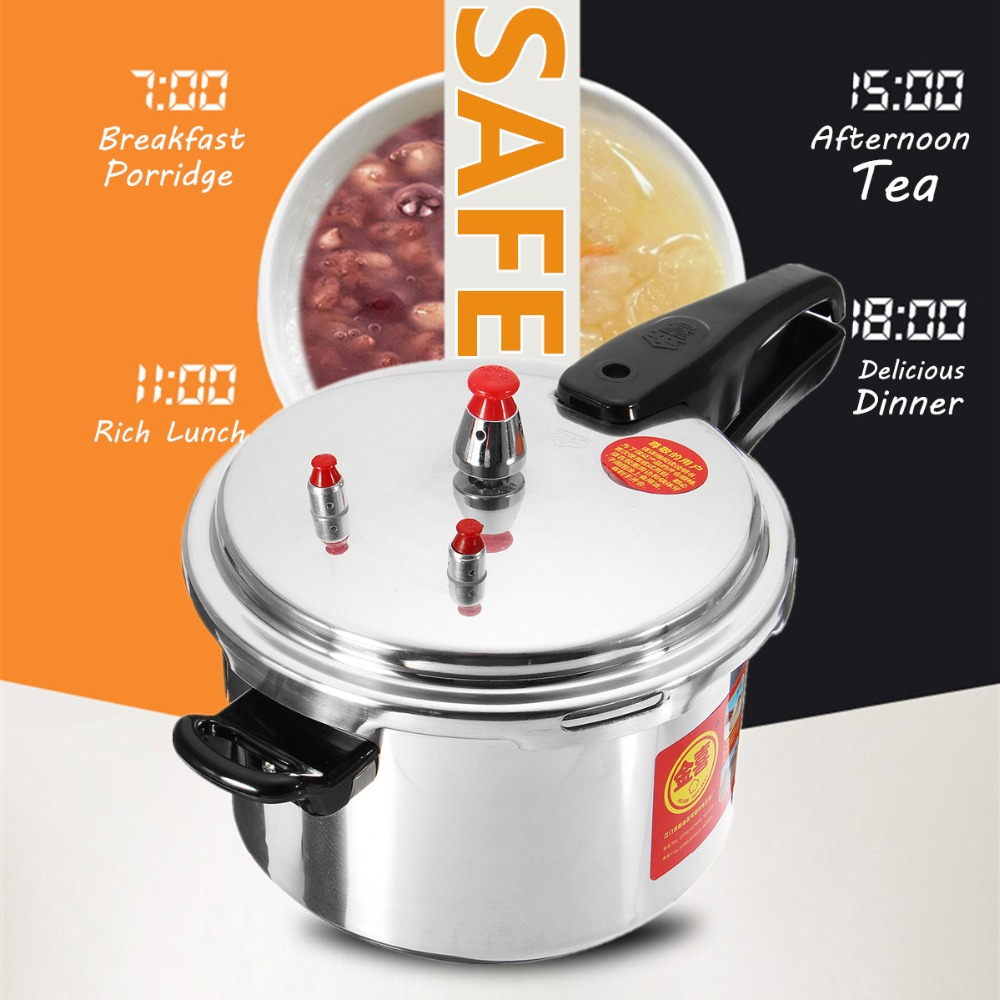 Aluminium Alloy Kitchen Pressure Cooker 20 24CM Gas Stove Cooking Energy saving Safety Protection Light weight