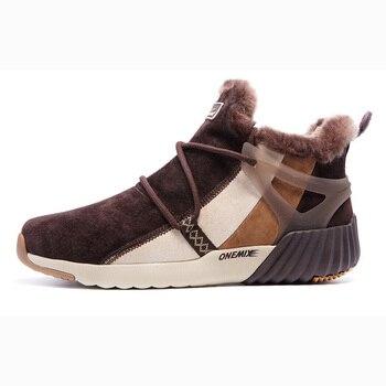 ONEMIX Winter Men's Boots Keep Warm Wool Trekking Sneakers Outdoor Unisex Mountain Waterproof Hiking Shoes Running Shoes for Man 7