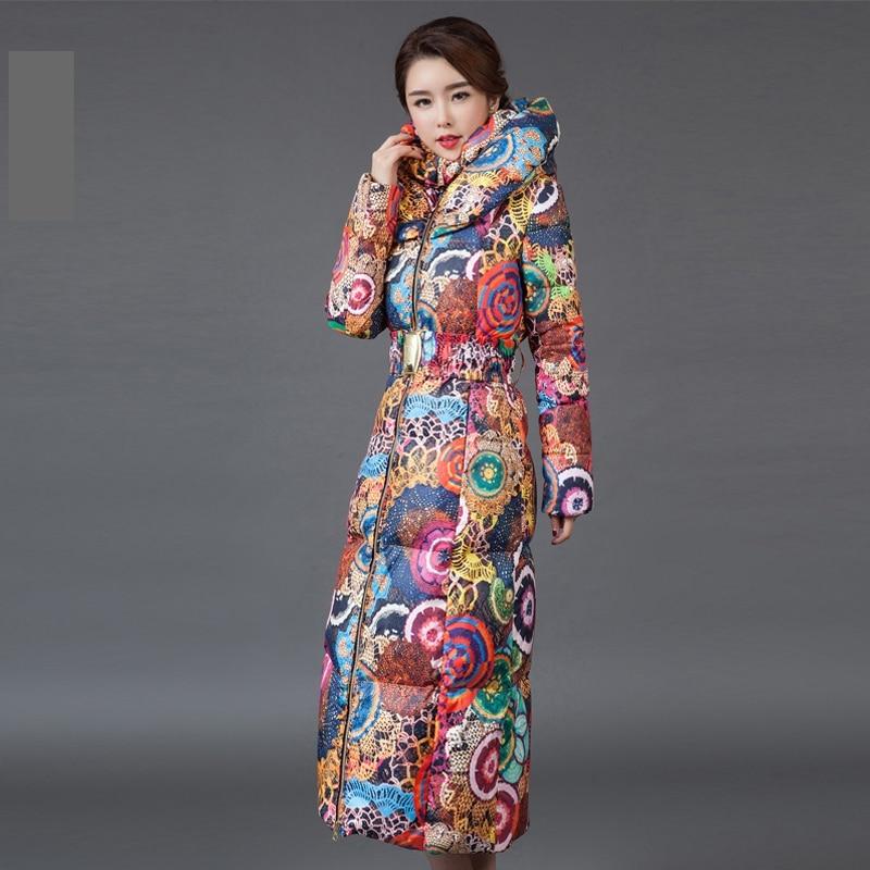 fashion winter women long coat hooded cotton down coat. Black Bedroom Furniture Sets. Home Design Ideas