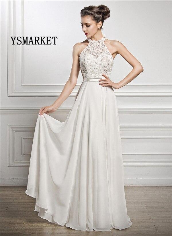 2018 Wedding Party Lace Patchwork Halter Beading Long Dress Luxury Elegant Women Cut The Shoudler Maxi Dress E759