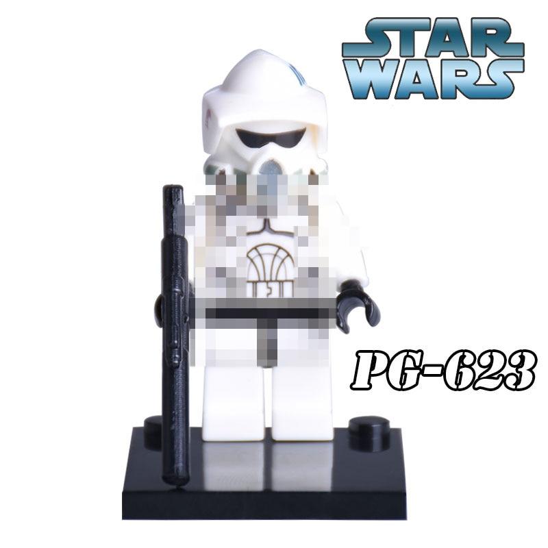 PG623 Star Wars 7 The Force Awakens Shadow ARF Clone Trooper White Soldier Building Blocks DIY Figures Kids Toys Best Child Gift