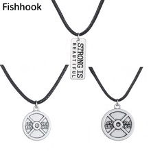 Fishhook Strong is Beautiful 45LBS and 25LBS Weight Charm Necklace Gym Crossfit Workout Jewelry gym jewelry Fitness necklace men