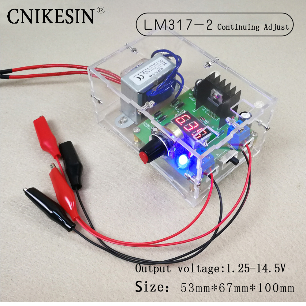 Eu 220v Diy Lm317 Adjustable Voltage Power Supply Board Learning Kit Dc Regulator Module Mpjacom Cnikesin 2 Meter Electronic Training Parts Continuing