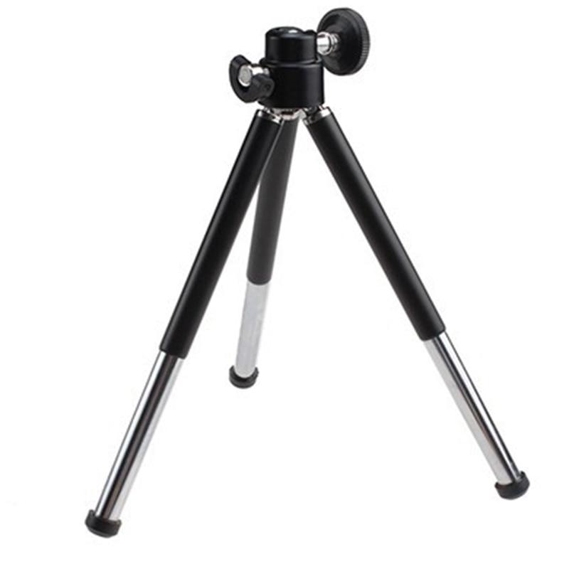 1pcs Black Mini Tripod Aluminum Metal Lightweight Tripod Stand Mount For Digital Camera Webcam Phone DV Tripod