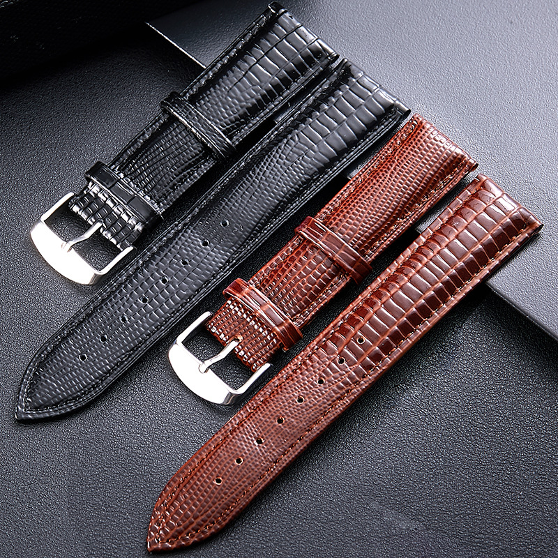 12mm -24mm for Lizard skin Spot lizard leather watch strap bright belt accessories independent packaging