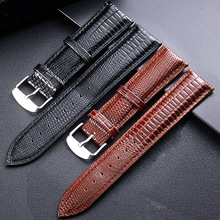 12mm -24mm for Lizard skin Spot lizard leather watch strap bright belt watch accessories independent packaging недорого