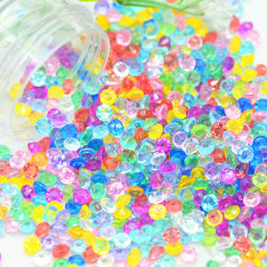 20 Gram 4mm Colorful Transparent Acrylic Tip Top Diamond Rhinestones|Slime Filler Materials|Wishing Bottle Fillers(China)