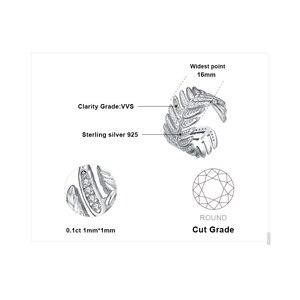 Image 5 - JewelryPalace 포장 큐빅 지르코니아 선조 잎 조정 가능한 열기 반지 925 스털링 실버 여성을위한 새로운 트렌디 한 반지 파인 쥬얼리
