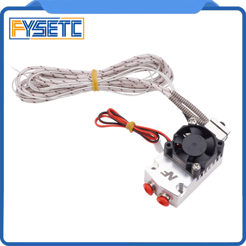 цена 3D Printer Parts NF TC-01 Multi-color Extruder 2 In 1 Out Hotend Dual Color Switching Hotend Kit For 0.4mm 1.75m With Fan