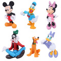 6Pcs/Set Disney Toys for Kids Disney Mickey Minnie Donald Duck Cartoon Action Figure Children Birthday Toy Christmas Gift Tq0133