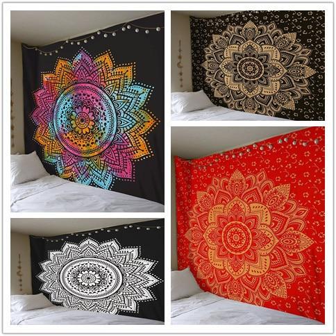 Polyester Indian Mandala Tapestry Wall Hanging Bohemian Hippie Home Decor Blanket Beach Yoga Large Mandala Wall Tapestry Art