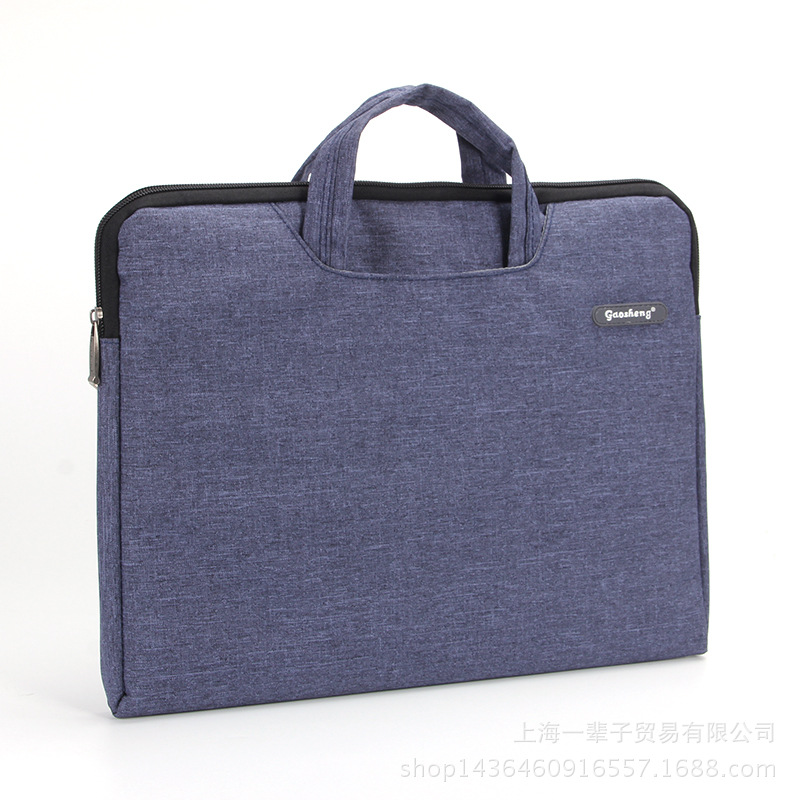 Portable A4 Document Bag Business Portfolio Office File Bag Male And Female For Documents IPad 14 Laptop Files Folder Handbag