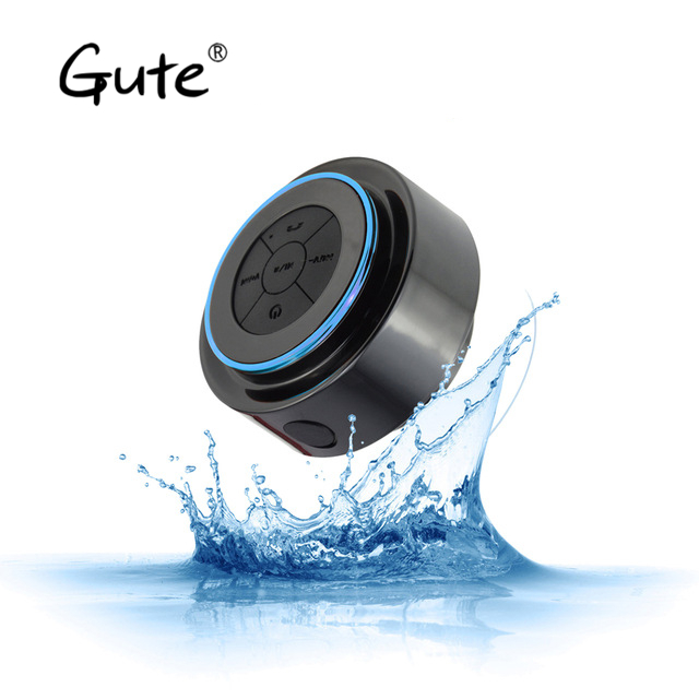 Gute hot Waterproof bluetooth speaker shower bath sucker Suction Cup active subwoofer car parlante mobile support altavoz ducha