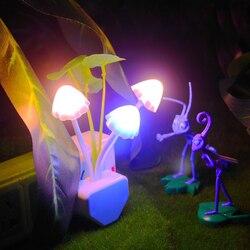 Lámpara de luz nocturna Lila, LED de colores, hongo, luces nocturnas Lila románticas para el hogar, decoración artística, iluminación, enchufe estadounidense/europeo