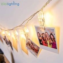 1 м, 2 м, 3 м, 4 м, 6 м, светодиодный светильник с зажимом для фото, гирлянда с батареей или USB DC 5 В, рождественское праздничное украшение для вечеринки, свадьбы, сказочные огни