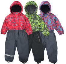 Jumpsuit outdoor windproof and snowproof jumpsuit winter warm jumpsuit children thick warm ski suit цены онлайн
