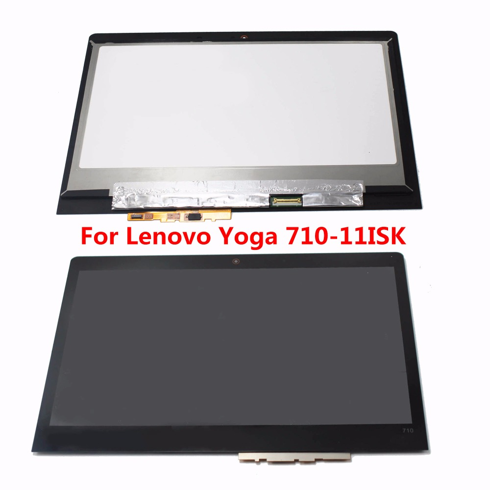 11.6 LED EDGE IPS LCD Display Digitizer Touch Screen Glass Panel Assembly For Lenovo Yoga 710-11ISK 80TX N116HSE-EBC B116HAN05 vibe x2 lcd display touch screen panel with frame digitizer accessories for lenovo vibe x2 smartphone white free shipping track