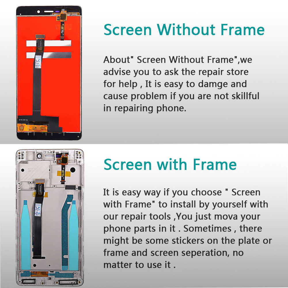 Vancca 5 0 inch Lcd display For xiaomi Redmi 3S touch screen Redmi 3 Pro /  3S Pro Prime digitizer Assembly Frame with Free tools