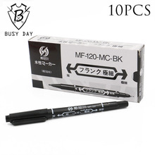 Sale Real 10pcs Professional Tattoo Transfer Pen Black Dual Skin Marker Accessories For Permanent Makeup