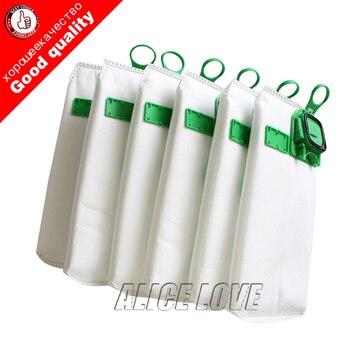 6pcs high efficiency dust filter bag replacement for VK140 VK150 Vorwerk garbage bags FP140 Bo rate kobold Vacuum cleaner 2019 gray washable vacuum cleaner filter dust bag for lg v 2800rh v 943har v 2800rh v 2810