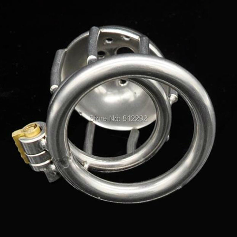 New Lock Super Small Stainless Steel Male Chastity Device Cock Cage Penis Virginity lock Cock Ring Adult Game Chastity Belt