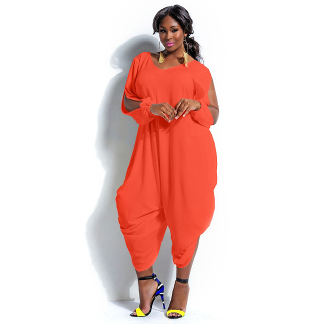 d57329564a21 Women Casual Plus Size Loose Jumpsuit Sexy Solid Color Outfits Summer  Rompers Party Club Wear Overalls