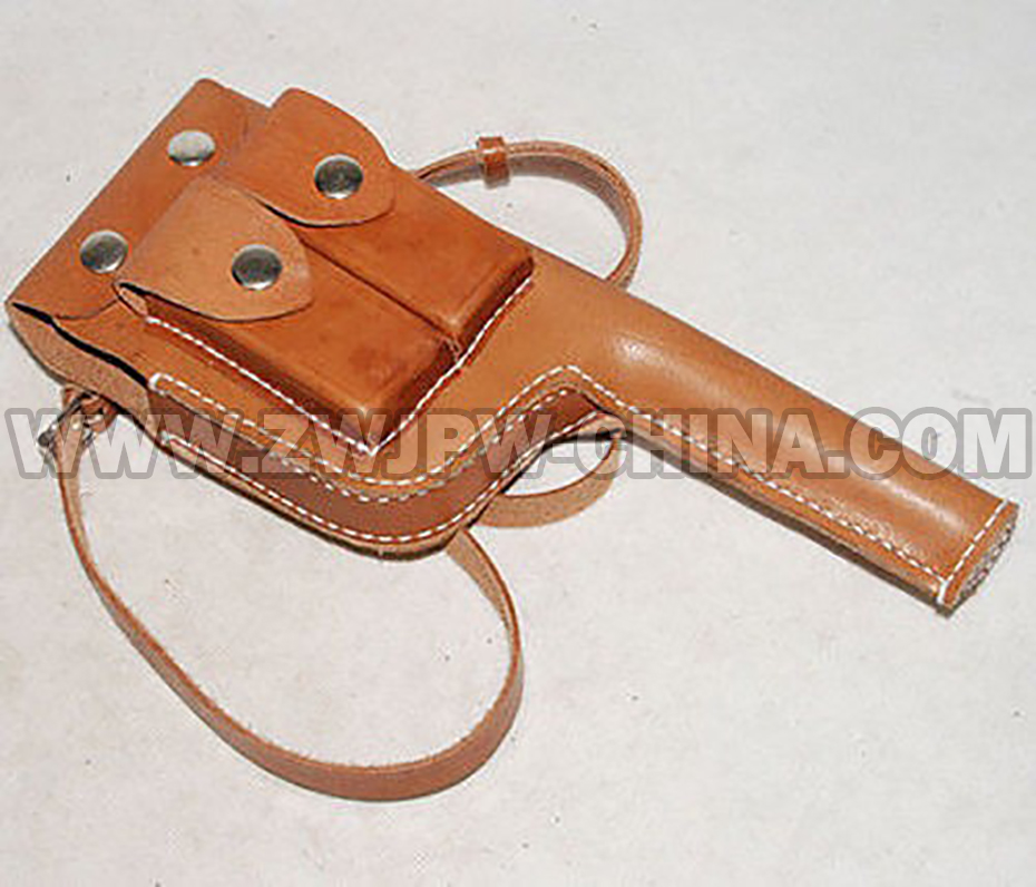ФОТО WW2 WWII GERMAN MAUSER GUN LEATHER HOLSTER BROOMHANDLE WITH STRAP  CN/103113