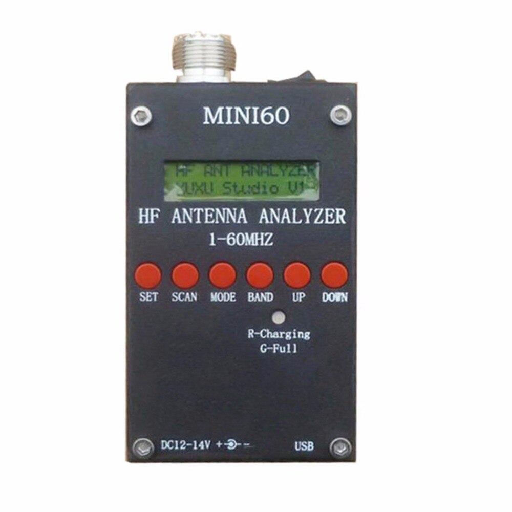 High Quality Mini HF ANT SWR Antenna Analyzer SARK100 For Ham Radio Hobbists 1 - 60 Mhz
