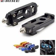Para MT09 FZ09 MT 09 accesorios de la motocicleta cadena ajustadores para YAMAHA MT 09 rastreador FZ 09 FJ 09 2014 2015 CNC Material de aluminio