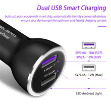 CELBRO Supercharge Car Charger for Huawei P20 P10 Mate 10 9