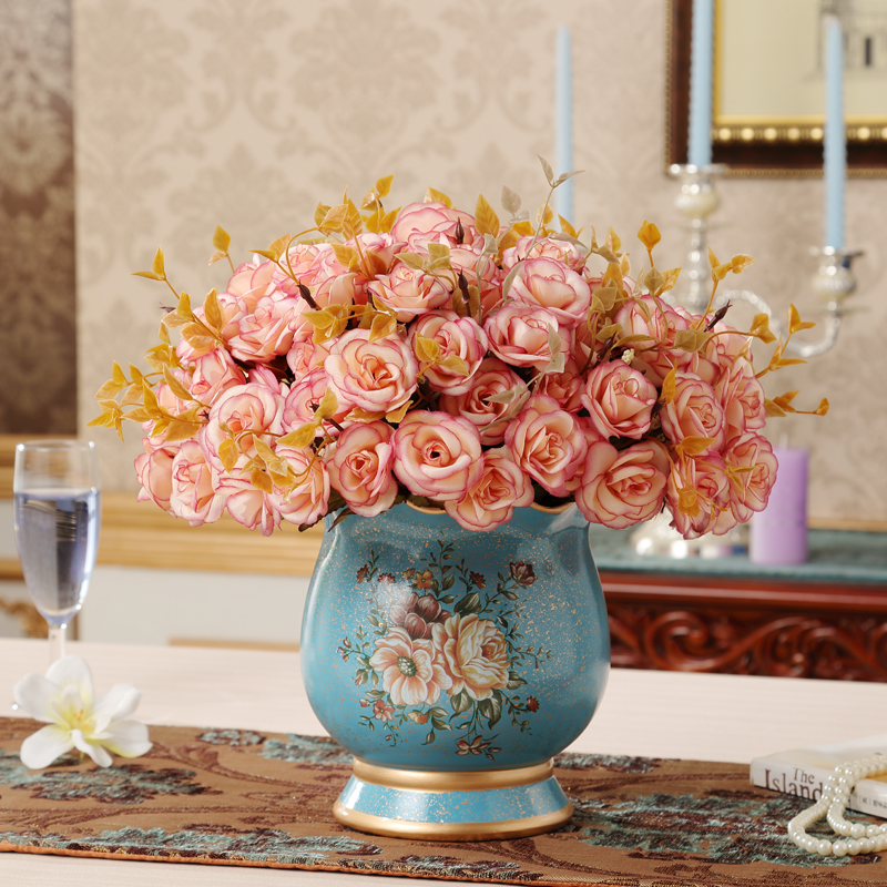 Wedding Gift Vase: European Ceramic Vase Flower Vase Decoration Luxury