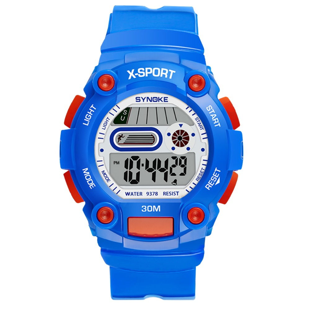 Los niños reloj Digital deportes impermeable barato reloj Digital electrónico con alarma, cronómetro para los jóvenes de los niños